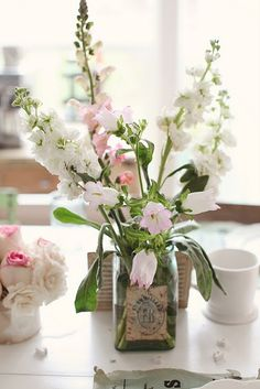 Gathered flowers.