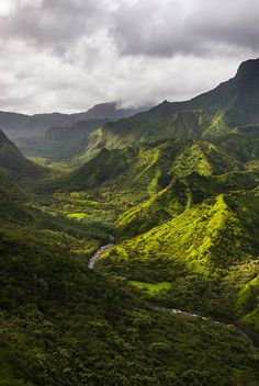 Green Kauai, Hawaii. These are great all our pictures were ruined in a down pour as we hiked down the Napoli coast