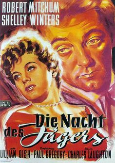 "The Night Of The Hunter (""Mensageiro do Diabo"", 1955). Film-Noir.  Directors…"