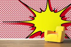 Dotted Explosion Pop Art Wallpaper Wall Mural | MuralsWallpaper.co.uk