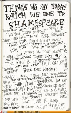 Shakespeare is my homeboy