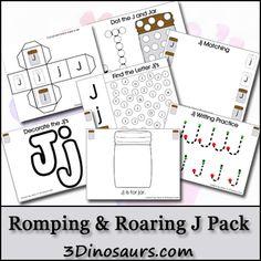 Free Romping & Roaring J Pack - 3Dinosaurs.com