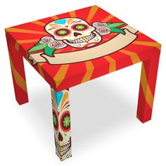 sugar skull table stools  cool | creative ideas & diy projects