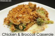 Not only is this Chicken & Broccoli Casserole delicious, but it's also super simple to throw together! It's one of the most popular recipes on MrsJanuary.com for a reason!