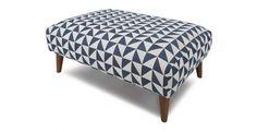 Zinc Pattern Large Footstool Zinc Pattern | DFS  £269 like this but too big.