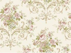 Feminine-Classic-Rose-Floral-Wallpaper-PN0401-Double-Roll-Bolts