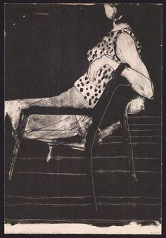 Untitled (Seated woman wearing polka-dot blouse) (1967) by Richard Diebenkorn