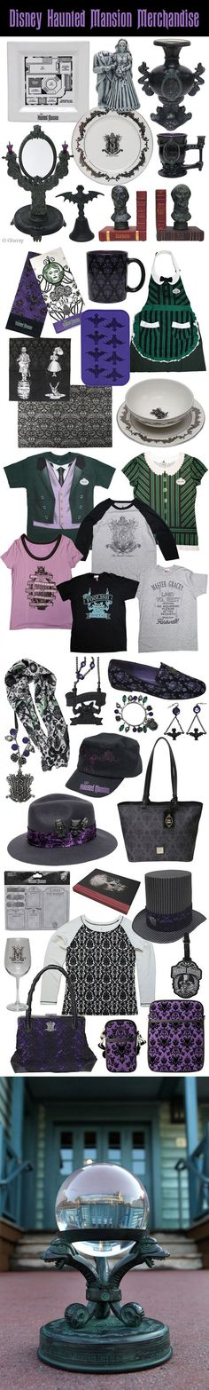 Disney has an exciting line of Haunted Mansion merchandise available at the U.S. theme parks and online.  If you have extra $$$, any of these items would make a perfect addition to your Haunted Mansion Halloween Party!