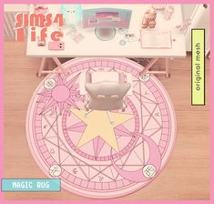 Sailor Moon Wands, Magic Sets, Sims Building, Sims 4 Build, The Sims, Occult, Cute, Cards, Sims 4 Custom Content