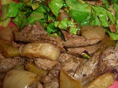 Left over Pot Roast with Fried Cabbage