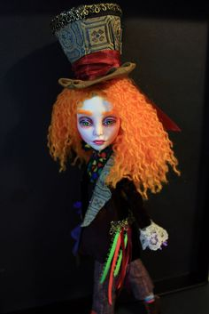 Mad Hatter Fantasy OOAK Spectra Monster High Doll Repaint by Refabrications