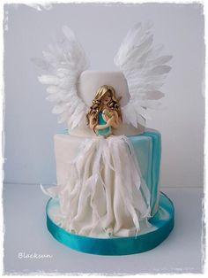 Sweet Angel by Blacksun - gateau :) - Cake Design Beautiful Birthday Cakes, Gorgeous Cakes, Amazing Cakes, Birthday Cakes For Men, Birthday Cupcakes, Birthday Ideas, Fancy Cakes, Cute Cakes, Pretty Cakes