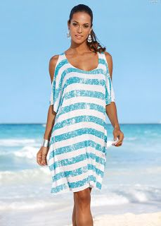 Buy Casual Dresses For Women at JustFashionNow. Online Shopping JustFashionNow Crew Neck Light blue Women Casual Dress A-line Daily Dress Cold Shoulder Basic Paneled Striped Dress, The Best Holiday Casual Dresses. Discover unique designers fashion at Just Baggy Dresses, Beach Wear Dresses, Casual Dresses For Women, Summer Dresses, Striped Shorts, Striped Dress, Maternity Fashion, Maternity Styles, Women Swimsuits