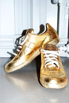 Martin Margiela Gold kicks.