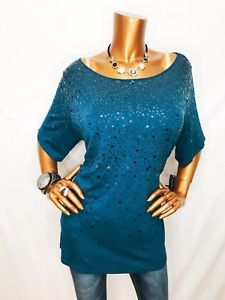 INC 2X Top Sequin NWT Short Sleeve Stretchable Dark Turquoise Blouse Shirt  | eBay