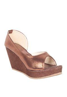 Do Bhai Collection Copper Wedges - Buy Women Heels Online | DO690SH39QHGINDFAS