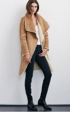 Velvet Faux Sherpa Reversible Coat is AMAZING