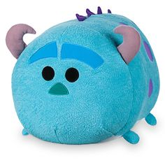 This Sulley Tsum Tsum large soft toy is huggable and stackable. This cute concept from Japan offers its own quirky version of the Monsters Inc. character, with horns and tail, and a squeezy bean bag tummy. Disney Tsum Tsum, Disney Plush, Baby Disney, Disney Cars, Disney Stuffed Animals, Tsum Tsum Stuffed Animals, Disney Souvenirs, Tsumtsum, Monster University