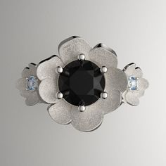 Nature Classic 14K White Gold 1.0 Ct Black by GormanDesigns