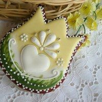 Folk art tulip. Very nice cookie, although the link does not take you to the cookie.