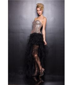 Black & Gold Sequin Prom Gow