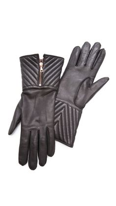 Rag   Bone Chevron Quilted Zip Gloves afb3f593233