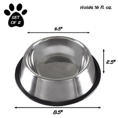 Give your furry friend a safe and mess-free place to enjoy their meals with the Stainless Steel Pet Bowls from PETMAKER. This set of 2 bowls are made from quality and safe stainless steel and feature non-skid bases to prevent spills and messes. Kitten Food, Kitten Care, Dog Grooming Clippers, Pet Grooming, Natural Cat Litter, Dog Haircuts, Cat Feeder, Dog Nails, Dry Cat Food