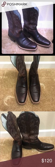 Ariat Boots Ariat boots worn once. Perfect shape. Size 8.  If interested, make me an offer!  Ariat Shoes Heeled Boots