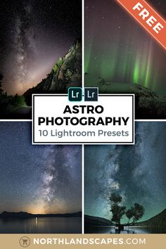 Start your editing workflow with this FREE preset collection: Compatible with Lightroom 4-6, CC and Classic (.lrtemplate & XMP presets) as well as the free Lightroom Mobile app for iOS & Android. Optimized for the following photography subjects: Astro photography, night sky, night photography, stars, astronomy, Northern Lights, Aurora Borealis, Aurora Australis, dark sky, meteor, moon, cosmos, planets, constellation, nebula, universe, space, galaxy, Milky Way Night Time Photography, Photography Basics, Photography Tips For Beginners, Exposure Photography, Photography Photos, Nature Photography, Travel Photography, Sky Night, Night Skies