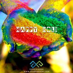 Celebrate the colours of nature this Holi! #AlobhaExim wishing you a very #HappyHoli.