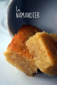 Le namandier (gateau sans farine, juste poudre d'amandes, sucre, beurre, 4 oeufs quand même) Tester en divisant sucre par 2 et diminuer un peu beurre ? ajouter purée d'amandes à la place ?