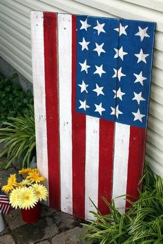 Made from pallet. American flag craft inspiration!