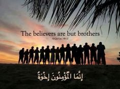 The believers are but brothers, so make settlement between your brothers. And fear Allah that you may receive mercy. [49:10]