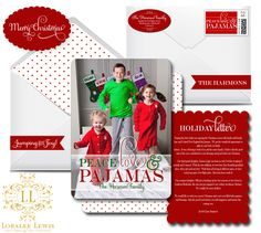 Peace, Love, and Pajamas Photo Card Suite by, Loralee Lewis, www.LoraleeLewis.com