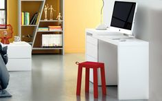 Enjoy a chic place to work anywhere in your home with the Tema Home Reef Laptop Desk . This small but modern desk provides a compact design packed with. Contemporary Dressing Tables, Dressing Table Modern, Dressing Table With Stool, Shops, Vanity Desk, Laptop Desk, Modern Bedroom Furniture, White Desks, Modern Desk