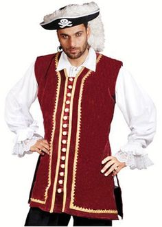 Pirate Frock Renaissance Medieval Costume Vest Jacket (EXT)  - Click image twice for more info - See a larger selection of men Medieval Renaissance Costumes at http://costumeriver.com/product-category/men-medieval-renaissance-costume/ - men, halloween costumes, halloween  , classic costume, holidays, event, trick or treat , gift ideas, costumes, disguise.