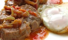 Receta de Zancarrón con fritada y tomate
