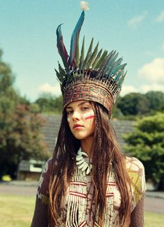 Jessica S- Cultural appropriation is when popular culture adopts and then alters the purpose or significance in practices of another culture. This girl is wearing a headdress that could have been adopted from a different culture.