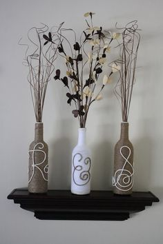 Wine Bottle Craft - great gift idea!