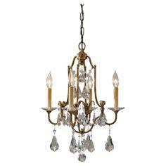 Murray Feiss F2480/4OBZ, Valentina Mini Crystal Chandelier Lighting, 4 Light, 240 Watts, Bronze - - Amazon.com