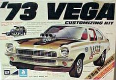 MPC 73 Vega box art .. Even makes the chevy Vega a cool car....