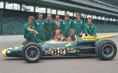 Jimmy Clark & his 1965 Indy 500 winning car.  Arguments about the greatest driver of alltime are subjective, but many still believe that he was.