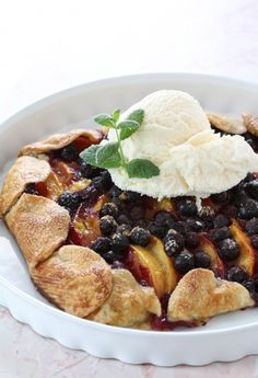 Peach & Blueberry Slab Pie