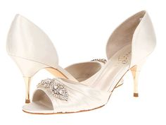 Bridal shoes that that go up to size 12, plus a heel under 3 inches.  Tall brides (and those of us with larger than average feet) rejoice!