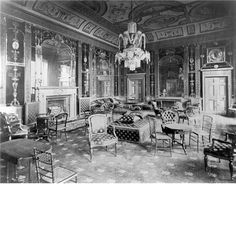 Glass Drawing Room by Robert Adam, 1770s, from Northumberland House, London, 1605-1874. Country Life.