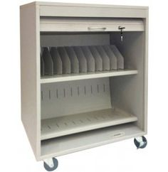 Keep an entire fleet of tablets or netbooks safe with the Sandusky Buddy Tablet Security Cart . This cart holds up to 24 tablets or netbooks. Laptop Storage, Office Storage, Metal Storage Cabinets, Mobile File Cabinet, Tray Styling, Storage Cart, Furniture, Home Decor, Products