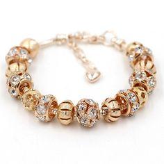 18K Gold Plated Charm Bracelet