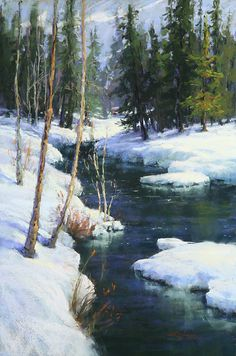 Cool and Clear by Kim Lordier Pastel ~ 36 x 24
