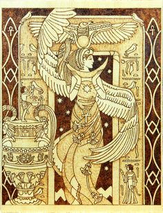 Isis Egyptian Goddess of motherhood and magic by YANKAcreations, $99.90
