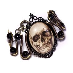 Steampunk Goth - Bracelet - Antique Skull Cameo by CatherinetteRings on DeviantArt